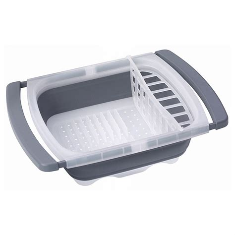 over the sink dish drainer progressive collapsible over sink dish drainer 576501