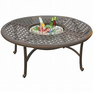 darlee series 30 52quot round patio coffee table in antique With bronze outdoor coffee table