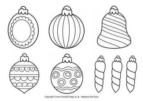 Christmas Decorations To Colour Printable Christmas