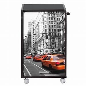 Caisson Bureau Noir : caisson noir roulettes new york ou paris beaux meubles pas chers ~ Teatrodelosmanantiales.com Idées de Décoration
