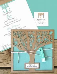 enchanted tree kraft laser cut invitaton online australia With laser cut wedding invitations online australia