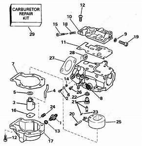 Evinrude 1995 25 - E25rleor  Carburetor 20