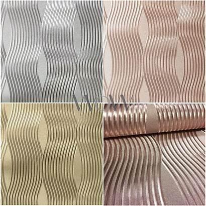 Foil Arthouse Wave Textured Metallic Rose Vinyl