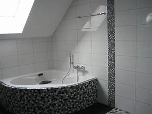 couleur salle de bain avec carrelage gris a saint denis With pose carrelage mosaique salle de bain