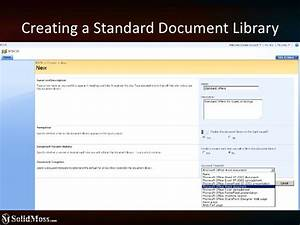 sharepoint lists and document libraries configuration and With document library ieb