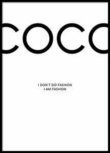 Coco Chanel Bilder : coco chanel poster poster mit fashion zitaten plakate online ~ Cokemachineaccidents.com Haus und Dekorationen