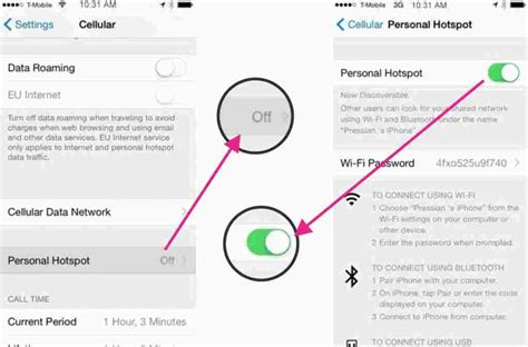 how to setup a hotspot on iphone how to setup iphone as a mobile hotspot in ios 8
