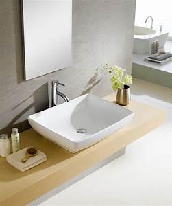 Fine, Fixtures, Modern, Ceramic, Rectangular, Vessel, Bathroom, Sink, U0026, Reviews