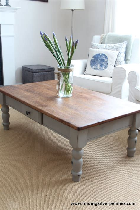 linen coffee table finding silver pennies