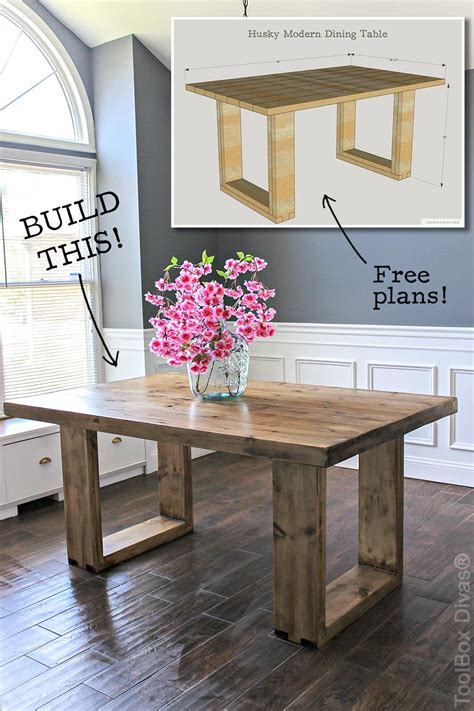 Tisch Fur Kuche by Diy Husky Modern Dining Table Modern Free And Diy Furniture