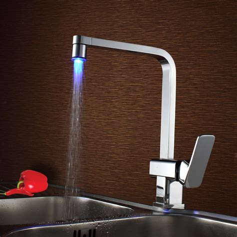 tap for kitchen sink taloya led single lever mono kitchen sink mixer tap 6004