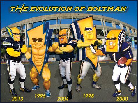 The La Chargers Team Mascot 'boltman'