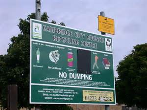 No Illegal Dumping Signs