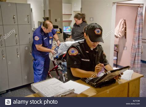 Emergency Medical Technicians, One Of Them A Registered