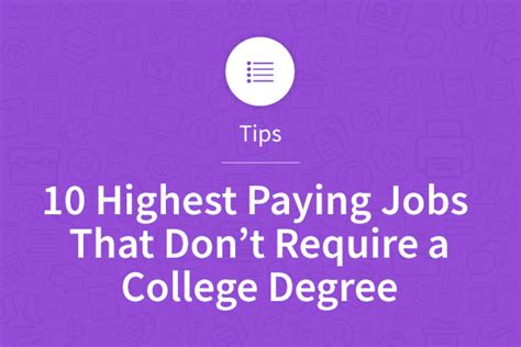 Hiring That Don T Require A Resume by 10 Highest Paying That Don T Require A College Degree Myperfectresume Blogmyperfectresume