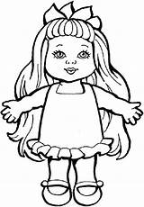 Doll Coloring Drawing Pages Baby Toys Sheets Dolls Smiling Ugly Colouring Toy Printable Action Chucky Drawings Paper Getcolorings Chica Rag sketch template