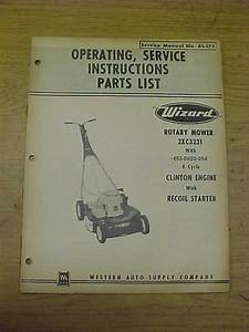 Wizard Rotary Mower 2xc3231 Service Manual 61