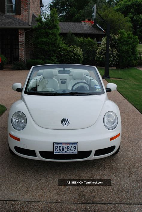 volkswagen white beetle 2007 vw beetle triple white edition