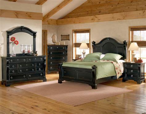 heirloom black king poster bed king bedroom sets