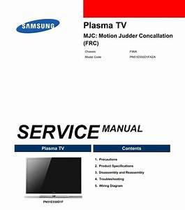 Samsung Pn51e550 Pn51e550d1f 3d Smart Plasma Tv Serv