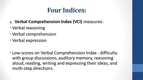 Wisciv The Wechsler Intelligence Scale For Children (wisciv) Is A Cognitive Test For Children