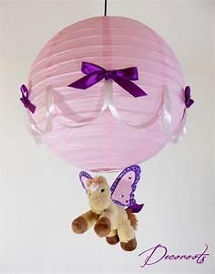 Lampe De Chevet Licorne : lampe suspension enfant b b caramel le poney ail rose et violet enfant b b luminaire ~ Teatrodelosmanantiales.com Idées de Décoration