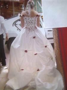 robe de mariee ecru et bordeaux d39occasion avec accessoires With boutique mariage avec bijoux occasion