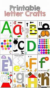 printable alphabet letter crafts pack 1 letter crafts With alphabet letters for preschoolers
