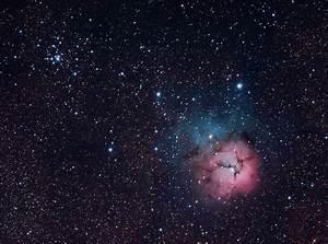 Trfid Nebula M20 & Open Cluster M21 photo ...