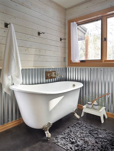 Corrugated Metal Wainscoting Bedroom Industrial With