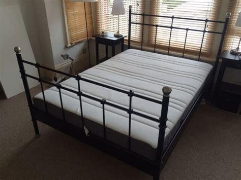 ikea svelvik metal bed frame in black