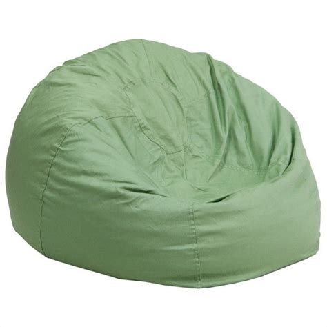 oversized solid bean bag chair in green dg bean large
