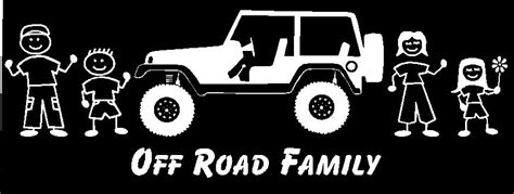 jeep family stickers jeep off road family car decal custom made