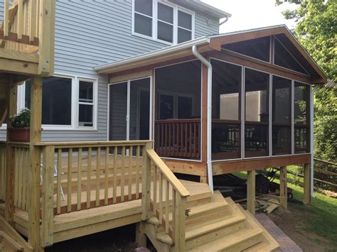 How To Enclose A Screened In Porch by Open Covered Porches Dayton Cincinnati Deck Porch
