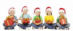 Christmas Children In Santa Helper Hat Little Xmas Kids
