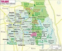 Tulare County Map, Map of Tulare County, California