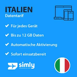 italien prepaid daten sim karte simlystorecom