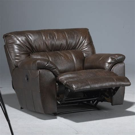 oversized cuddler recliner big lots catnapper nolan leather cuddler recliner in godiva