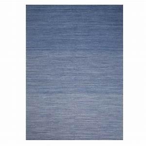 tapis tres fin bleu en laine par ligne pure With tapis d entrée très fin