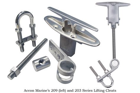 Accon Boat Cleats by Accon Marine Lifting Cleats Complement Any Boat Design