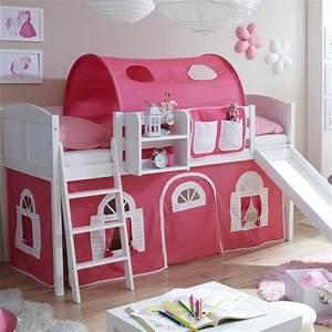 Enfant Lit Fille : lit mezzanine enfant 25 belles id es gain d 39 espace ~ Teatrodelosmanantiales.com Idées de Décoration