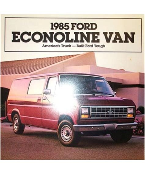 ford econoline sales brochure