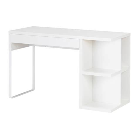 bureau micke blanc micke desk with integrated storage white ikea