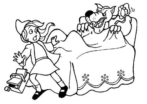 En De Wolf Kleurplaat by Kinderpleinen Roodkapje Kleurplaten
