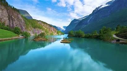 Nature Norway Lake Lovatnet Natural 4k Still001