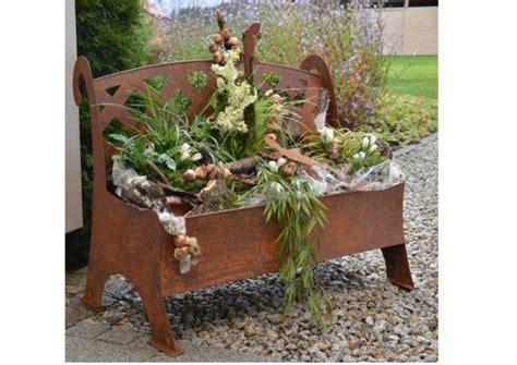 Gartendeko Blech by Edelrost Bank Zum Beflanzen Kreative Gartenideen
