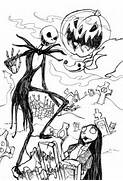 Jack Skellington Head Coloring Pages Jack skellington by clowndomain  Jack And Sally Coloring Pages