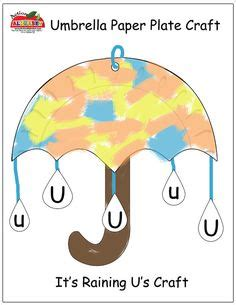 letter  umbrella color  number page preschool letter