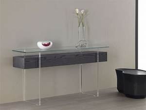 glass console tables why we love them and how to use them With awesome console avec tiroir meuble entree 10 meuble entree mural