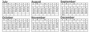Blank Printable July August September 2018 Calendar 6